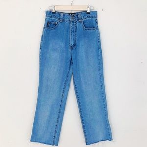 Vintage Dolce and Gabbana High Waist Cropped Jeans
